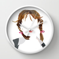 Britney Wall Clock by Bethany Mallick