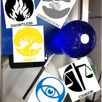 Divergent Individual Factions Hand Made viniyl High quality Stickers,The Factions - Inspired by Veronica Roth