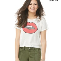LIPS CROPPED GRAPHIC T