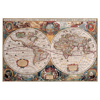 Antiquity World Map Canvas Print