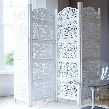 Hand Carved Wooden Decorative Screen, New Finds | Graham and Green Furniture