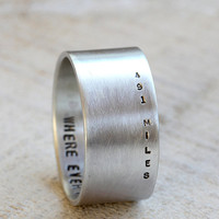 Long distance relationship ring