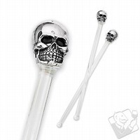 Skull Swizzle Sticks (Set of 12)