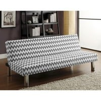 Chevron Sleeper Sofa - Gray & White