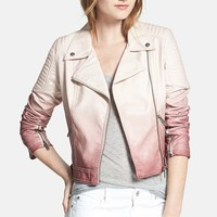 Circus by Sam Edelman Dip Dyed Faux Leather Moto Jacket