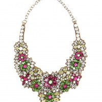 CRYSTAL-EMBELLISHED SATIN NECKLACE