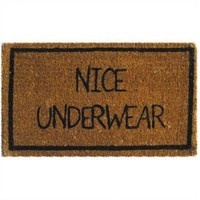 Amazon.com: Nice Underwear Coir Doormat: Pet Supplies
