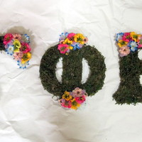 Flower & Moss Greek Letter from Mi6chelle