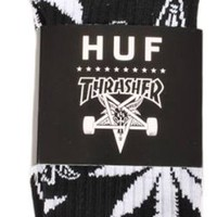HUF X Thrasher Collab Weed Leaf 420 Plantlife Crew Socks