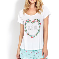 Love You Floral PJ Set