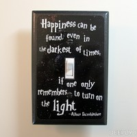 Harry Potter Inspired Dumbledore Quote Jumbo Light Switch Plate on the redditgifts Marketplace