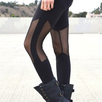 Mesh Knee Leggings | Shop Civilized