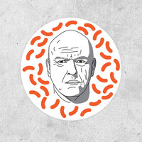 Breaking Bad Circular Sticker! Hank Schrader, decal bumper sticker bomb laptop