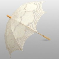 Beige Elegant Adult Lace Umbrella, Parasol Series