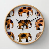 CHEETAH ELEPHANTS Wall Clock by catspaws