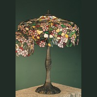 Meyda Tiffany 31148 Cherry Blossom 28 Inch Tall Tiffany Living Room Table Lamp