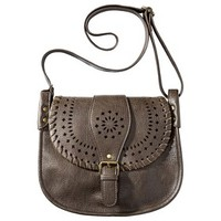Mossimo Supply Co. Perforated Crossbody Handbag - Brown