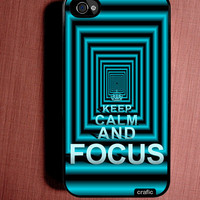 Keep Calm and Focuse iPhone Case - Fits iPhone 4/4S by CRAFIC