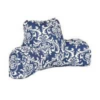 Printed Reading Pillow - French Quarter - Navy/White