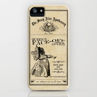 Scary Alice Apothecary - Queen of Hearts iPhone & iPod Case by VectoriaDesigns