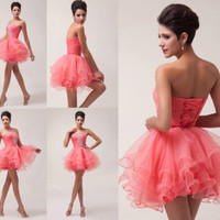 Stock mini Sequins Short Mini Party Dress Homecoming Prom Party Cocktail Dresses