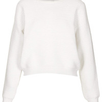 Knitted Rib Texture Jumper