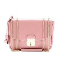 MINI POLLY LEATHER SHOULDER BAG