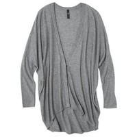 labworks Petites Long-Sleeve Cardigan Sweater - Granite Gray