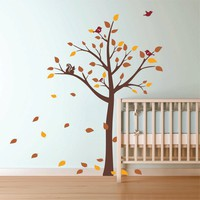 Autumn Tree Wall decal - Nursery wall decal on chuckebyrdwallart