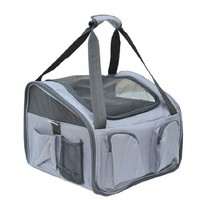 Pawhut Deluxe Pet Car Travel Seat / Carrier for Dog & Cats - Gray