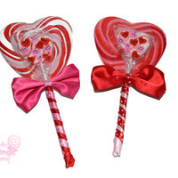 Valentine's Lollipop Bouquet, Candygram, Candy Bouquet, Valentine's Day, Valentines, Candy, Lollipop, Quick to ship, edible, hearts, kids