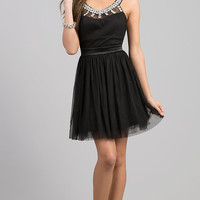 Short Sleeveless Black Dress