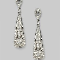 Adriana Orsini - Crystal Drop Earrings - Saks.com