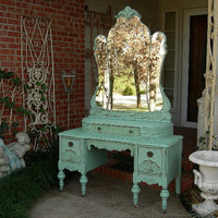 CUSTOM VANITY Order Your Own Antique Dresser - Layaway Avail -Shabby Chic Painted Distressed Restored Bedroom Bathroom Furniture