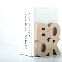 Modern stylish bookend BookOne Wooden edition