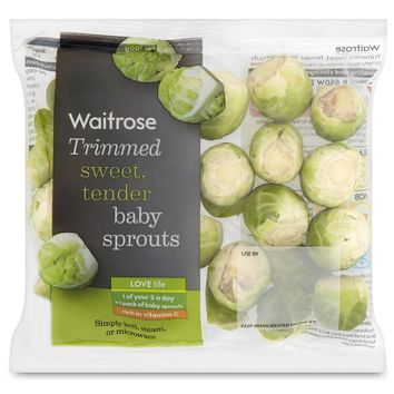 Ready Trimmed Baby Sprouts Waitrose at Ocado