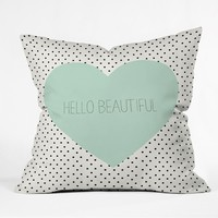 Deny Designs Hello Beautiful Throw Pillow White Combo One Size For Women 23689116701