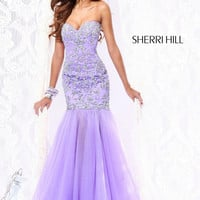 Purple Beaded Mermaid Organza Prom Pageant Evening Dress Formal Women Party Gown