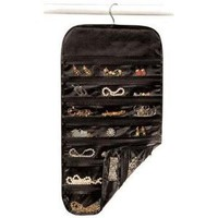 Hanging Jewelry Organizer Black 37 Pockets Organize