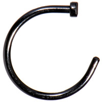 "18 Gauge 3/8"" Black Anodized Titanium Nose Hoop 