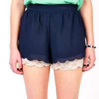 Gumdrop Scalloped Shorts | Chiffon Shorts at Pink Ice