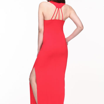 STRAPPY JERSEY MAXI DRESS