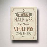 RON SWANSON Quote Typography Print / Parks and Recreation / Parks and Rec / Parks & Rec Quote