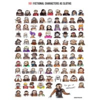 DFTBA Records :: SIGNED 101 Fictional Characters as Sloths Poster