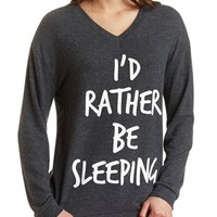 FUZZY OVERSIZED GRAPHIC SWEATSHIRT