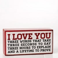 I LOVE YOU PLAQUE