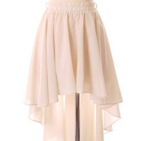 Asymmetric Waterfall Skirt in Ivory - New Arrivals - Retro, Indie and Unique Fashion