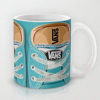Cute blue teal Vans all star baby shoes iPhone 4 4s 5 5s 5c, ipod, ipad, pillow case and tshirt Mug by Three Second