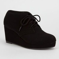 Soda Favor Girls Wedges Black  In Sizes