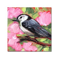 Black Capped Chickadee Original Oil Painting on 6x6 Panel | GildedOwlJewelry - Painting on ArtFire